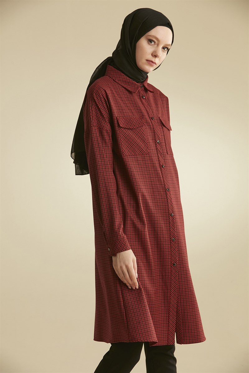Nihan Tunik  Bordo