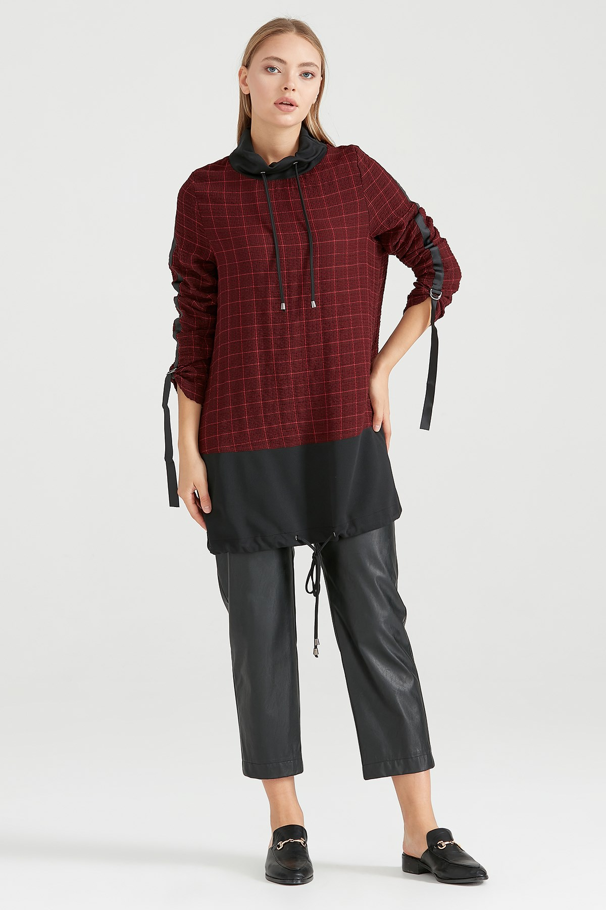 Nihan Nihan Tunik Bordo - O5061