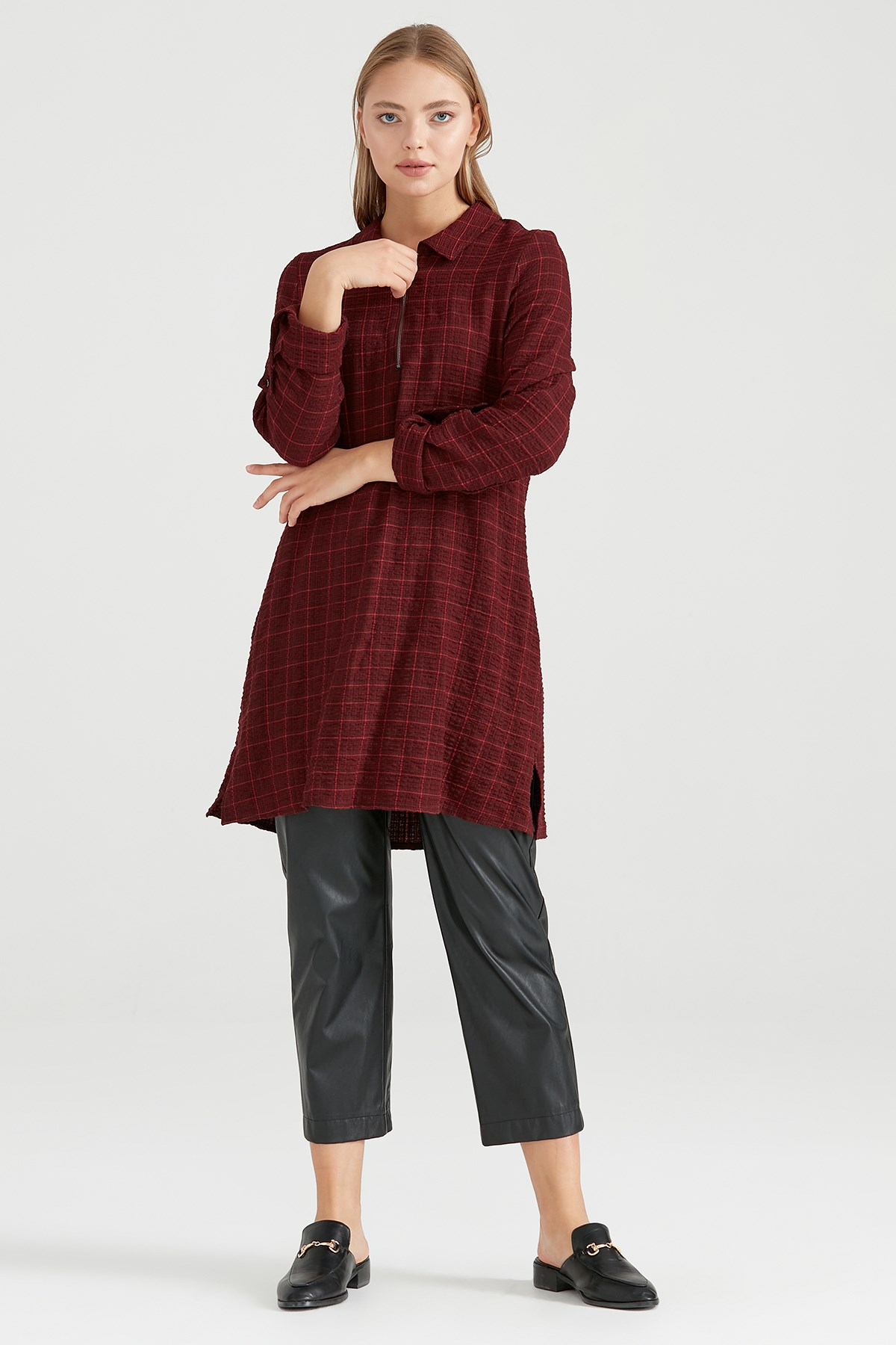 Nihan Tunik Bordo - O5135